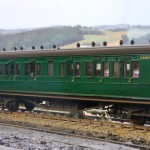 SR rebuilt LSWR Brake Third to diagram D97 in BR (SR) green -no-S2607