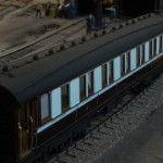 LNWR corridor composite to diagram 23 number 382 built 1909.