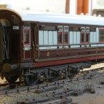 LNWR corridor brake third to diagram D63 number 388 built 1908.